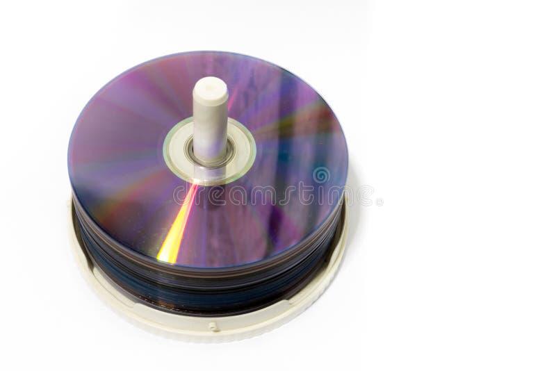 Het stapelen van DVD-schijf royalty-vrije stock foto's