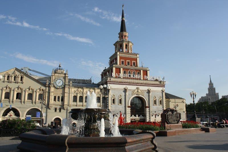 Het station Kazansky van Moskou stock fotografie