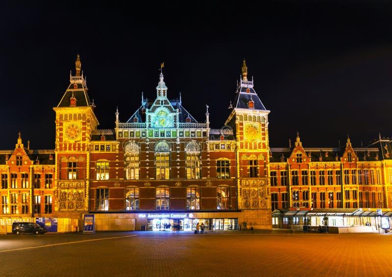 Het station van Amsterdam Centraal stock afbeeldingen