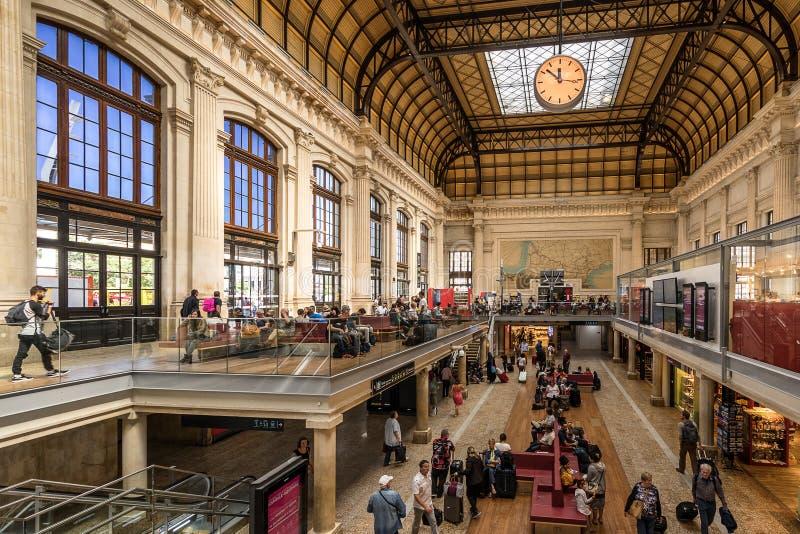 Het station van Bordeaux St Jean stock afbeeldingen