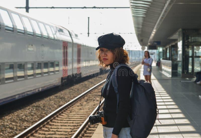 Het Station van Brugge stock foto's