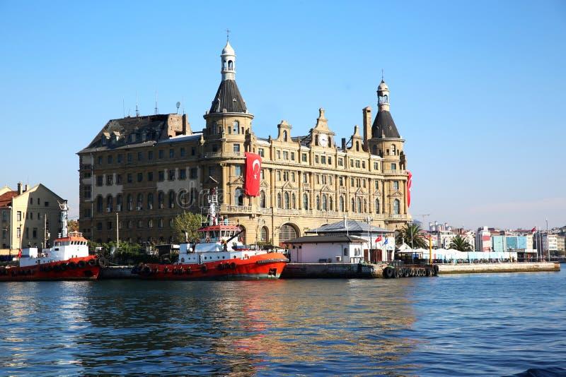 Het Station van Haydarpasa in Istanboel Turkije royalty-vrije stock foto