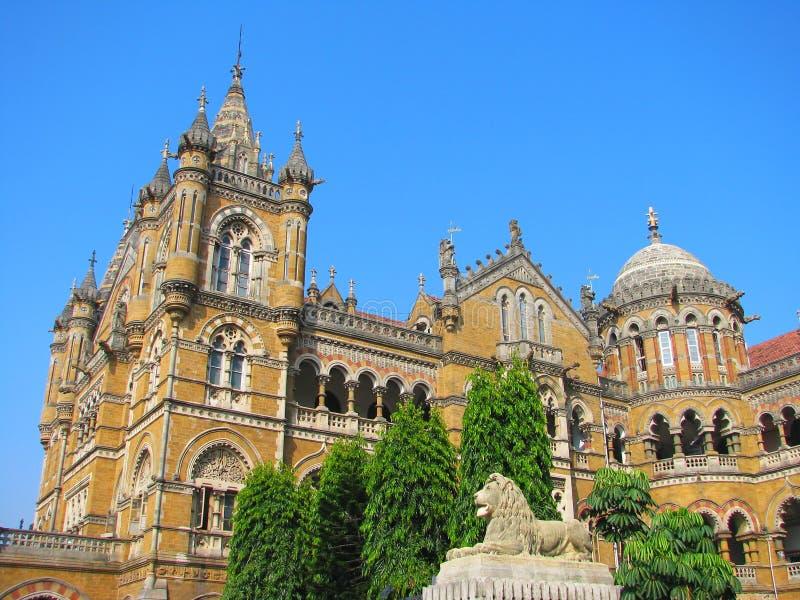 Het Station van het Eindpunt van Victoria in Mumbai stock afbeelding