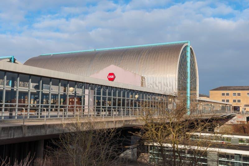 Het station van Hojetaastrup tijdens de winter royalty-vrije stock fotografie
