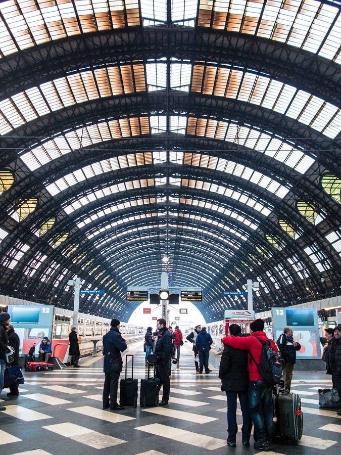 Het station van Milaan Centrale royalty-vrije stock afbeelding