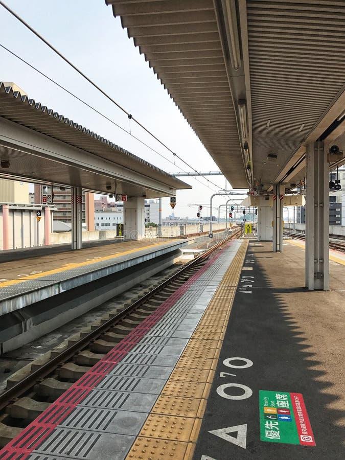 Het station van Nara Nara is een hoofdstad van de prefectuur van Nara in het Kansai gebied van Japan wordt gevestigd dat royalty-vrije stock afbeeldingen