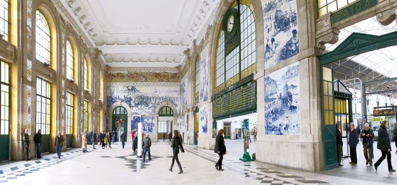 Het Station van Porto, S Bento, Portugal stock foto's