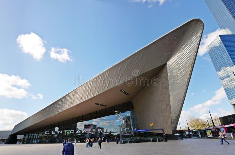 Het station van Rotterdam Centraal royalty-vrije stock foto