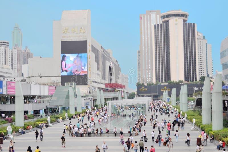 Het station van Shenzhen stock foto's