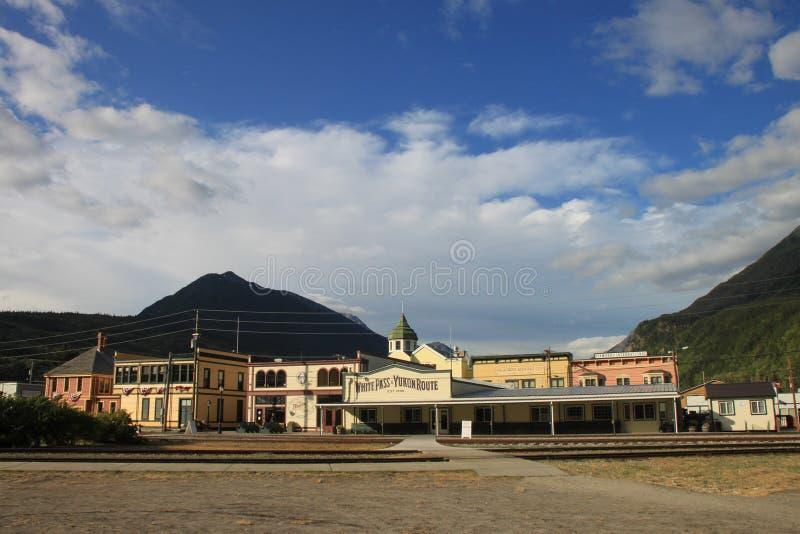 Het station van Skagway stock foto