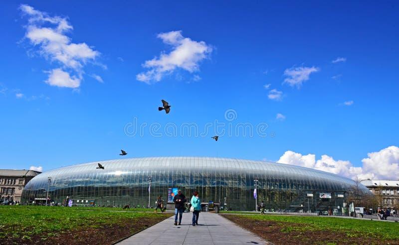Het station van Straatsburg stock foto