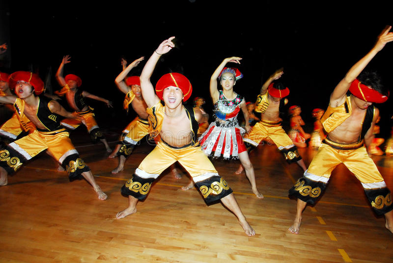 Het 23ste Folklore Internationale Festival in Israël stock foto's