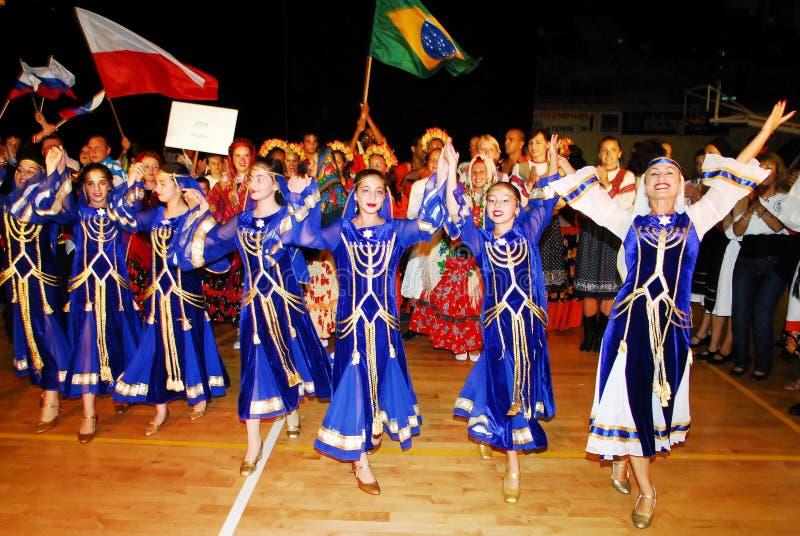 Het 23ste Folklore Internationale Festival in Israël stock afbeelding