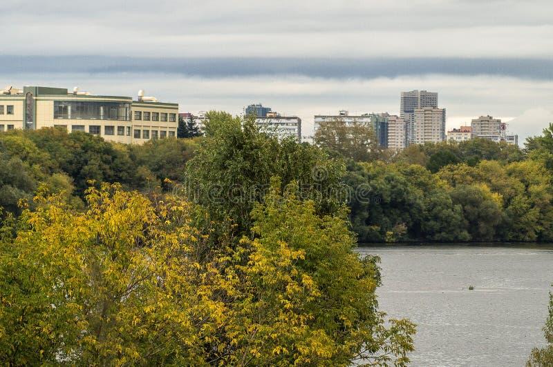 Het stedelijke landschap van de hoofdstad van Rusland - Moskou royalty-vrije stock foto
