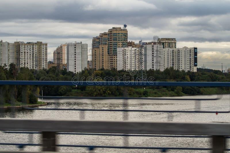 Het stedelijke landschap van de hoofdstad van Rusland - Moskou stock afbeeldingen