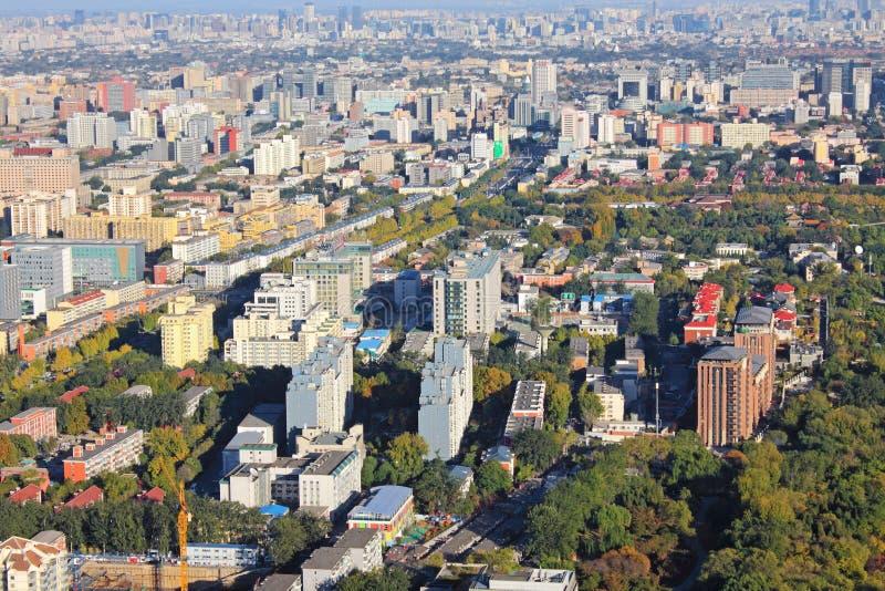 Het stedelijke landschap van Peking royalty-vrije stock afbeelding