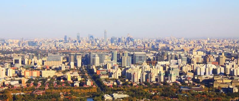 Het stedelijke landschap van Peking stock afbeeldingen