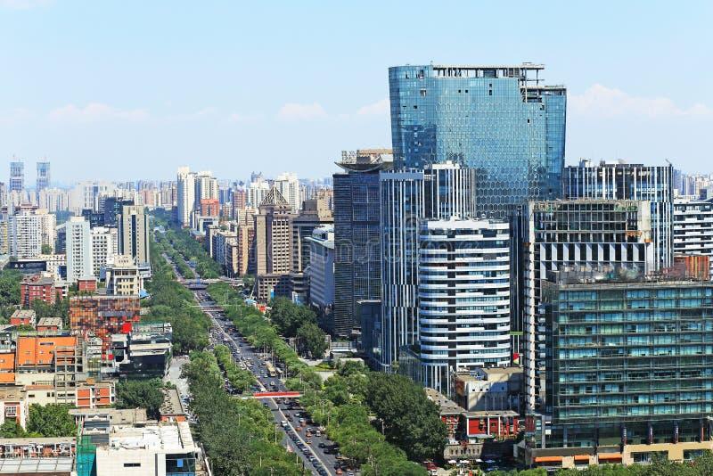 Het stedelijke landschap van Peking stock foto's