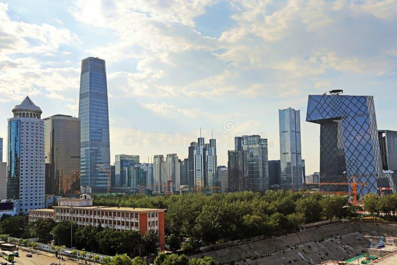 Het stedelijke landschap van Peking royalty-vrije stock foto's
