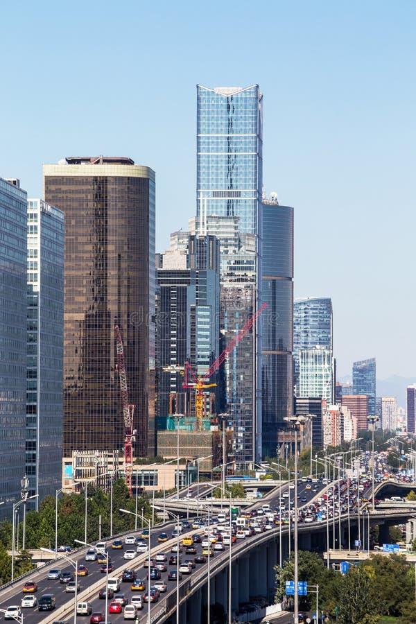 Het stedelijke landschap van Peking royalty-vrije stock afbeeldingen