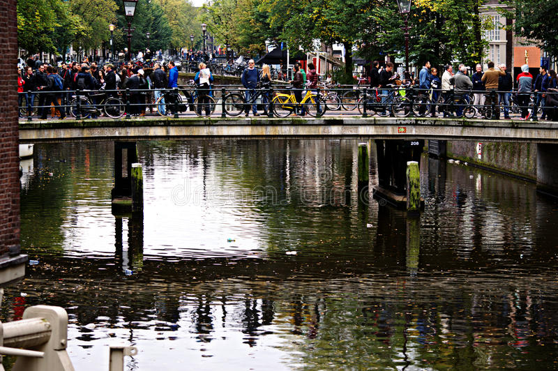 Het stedelijke leven in Amsterdam 01 royalty-vrije stock fotografie