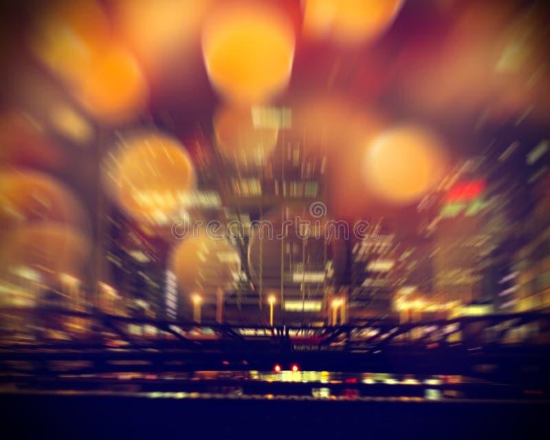 Het stedelijke leven bij nacht stock fotografie
