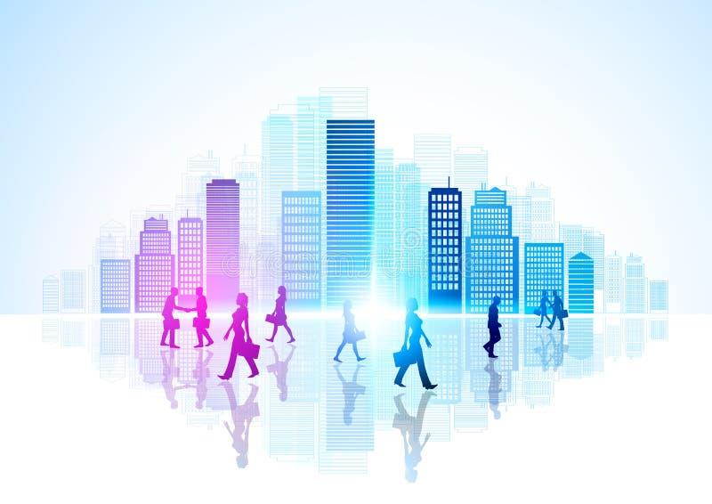 Het stedelijke Leven van de Stad vector illustratie