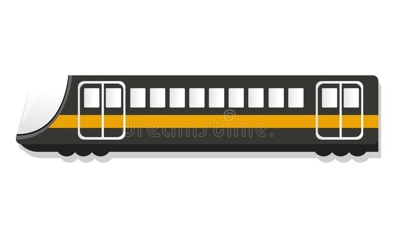 Het stedelijke pictogram van de passagierstrein, beeldverhaalstijl stock illustratie