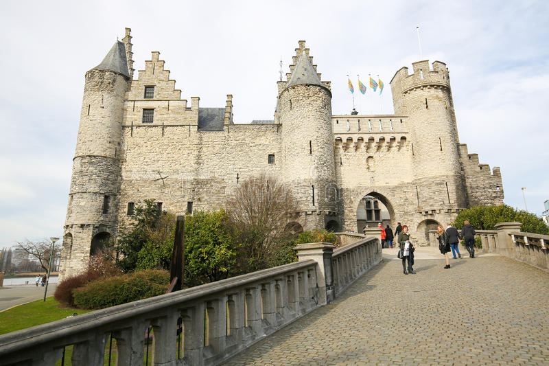 Het STEEN, το παλαιότερο κτήριο στην Αμβέρσα, Βέλγιο στοκ φωτογραφία με δικαίωμα ελεύθερης χρήσης