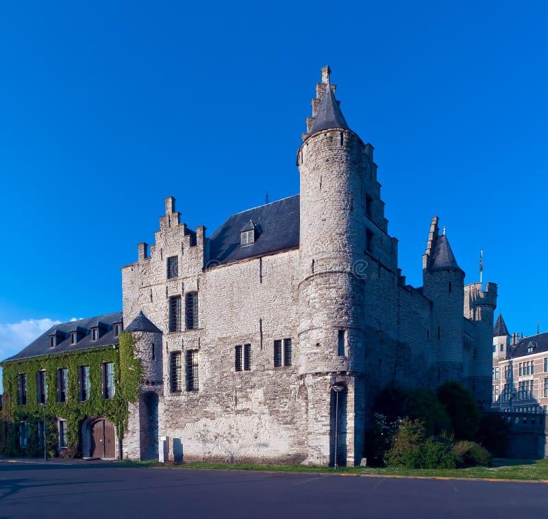 Het Steen, Anvers, Belgique de château photos libres de droits