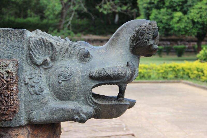 Het steenwerk in Konark tempel-12 royalty-vrije stock foto's