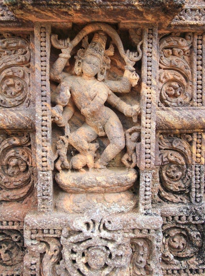 Het steenwerk in Konark tempel-16 royalty-vrije stock fotografie