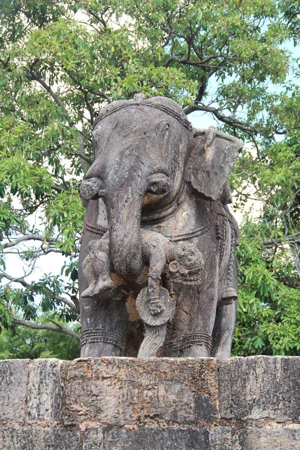 Het steenwerk in Konark tempel-14 royalty-vrije stock fotografie