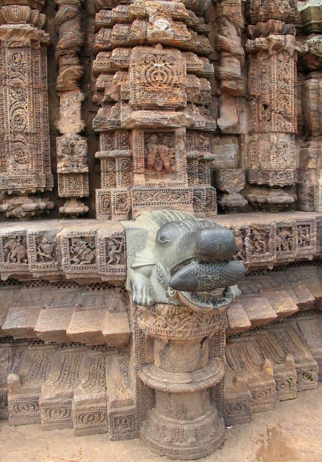 Het steenwerk in Konark tempel-15 stock foto's