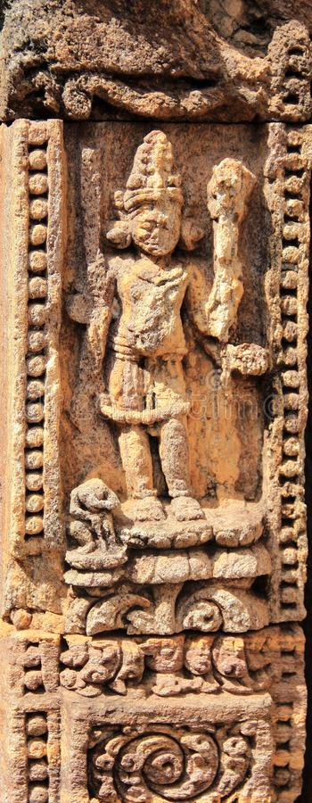 Het steenwerk in Konark tempel-17 royalty-vrije stock foto