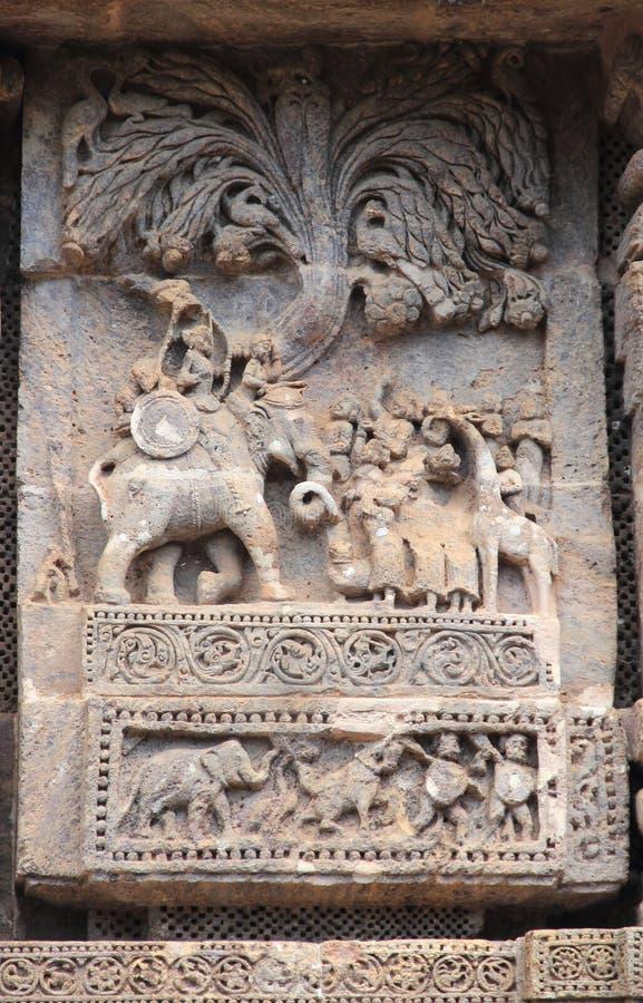 Het steenwerk in Konark tempel-24 royalty-vrije stock afbeeldingen