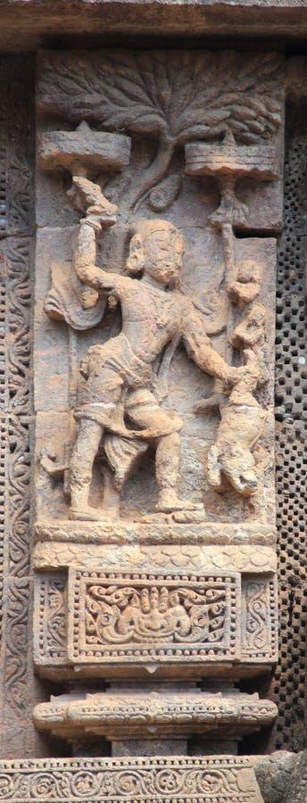 Het steenwerk in Konark tempel-26 stock foto's