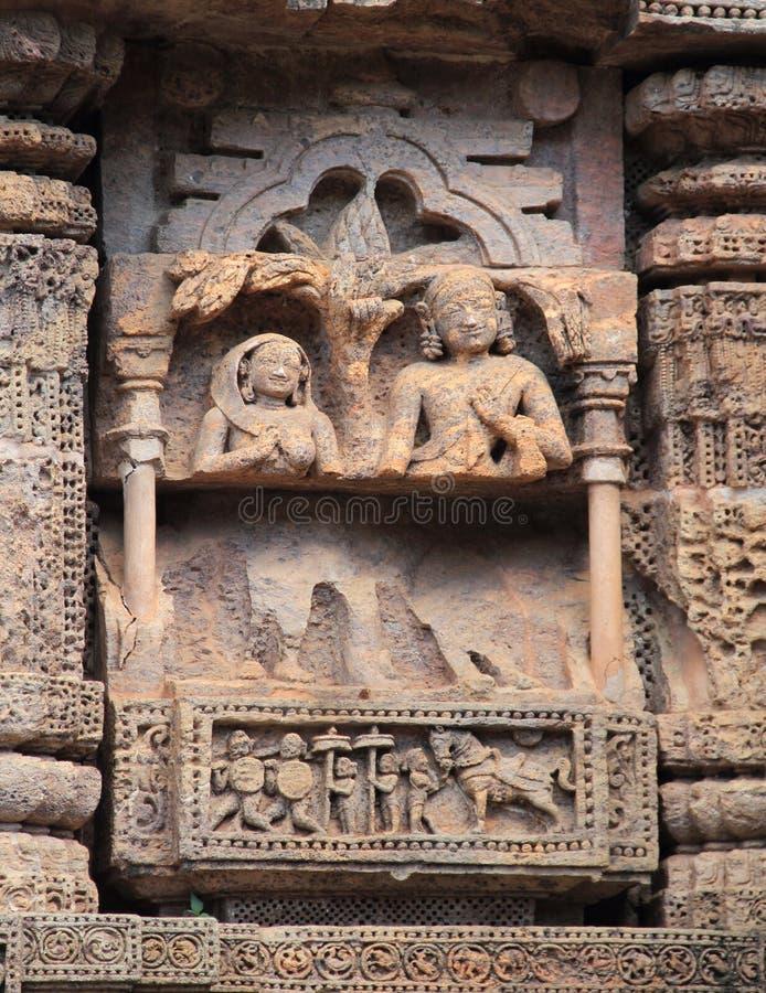 Het steenwerk in Konark tempel-28 royalty-vrije stock foto's