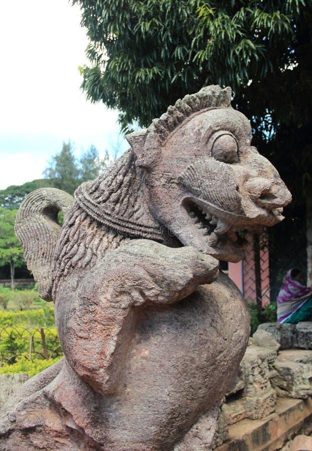 Het steenwerk in Konark tempel-33 royalty-vrije stock afbeelding