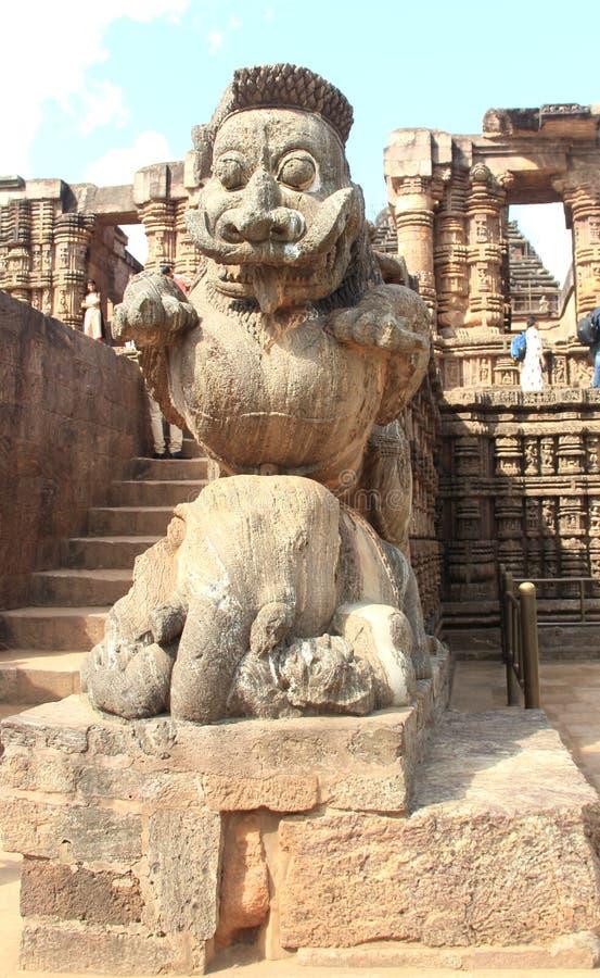 Het steenwerk in Konark tempel-35 stock afbeeldingen