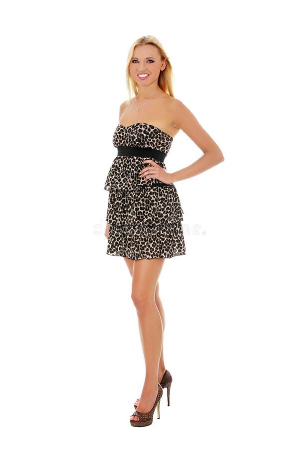 Het stellen van het meisje in ping kleding royalty-vrije stock foto's