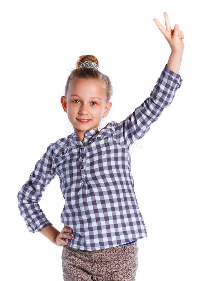 Download Het Stellen Van Het Meisje In Studio Stock Foto - Afbeelding bestaande uit kleur, pret: 54089506