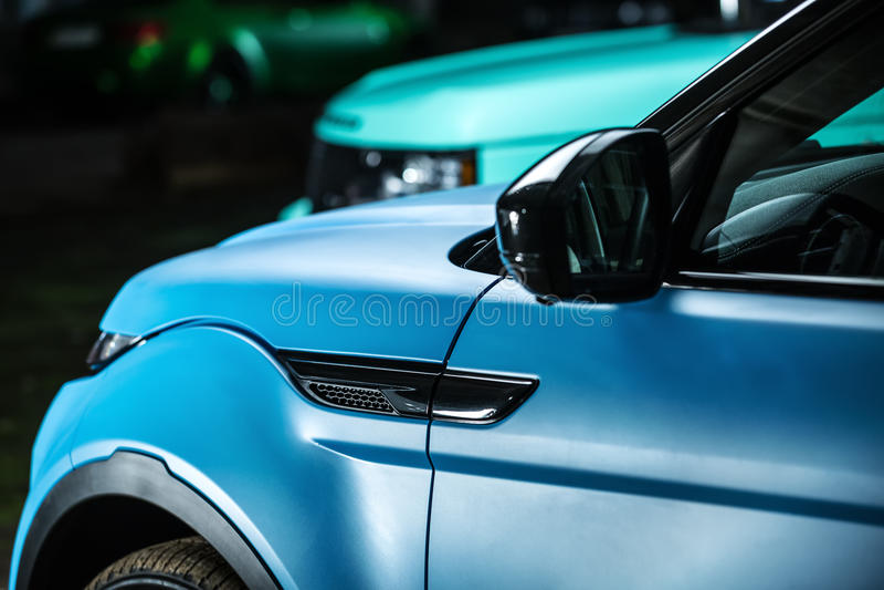 Het stemmen van Range Rover EVOQUE stock foto's