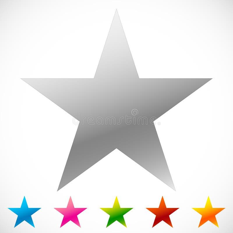 Het sterpictogram met dun overzicht maakt het uit knalt kleur 6 stock illustratie