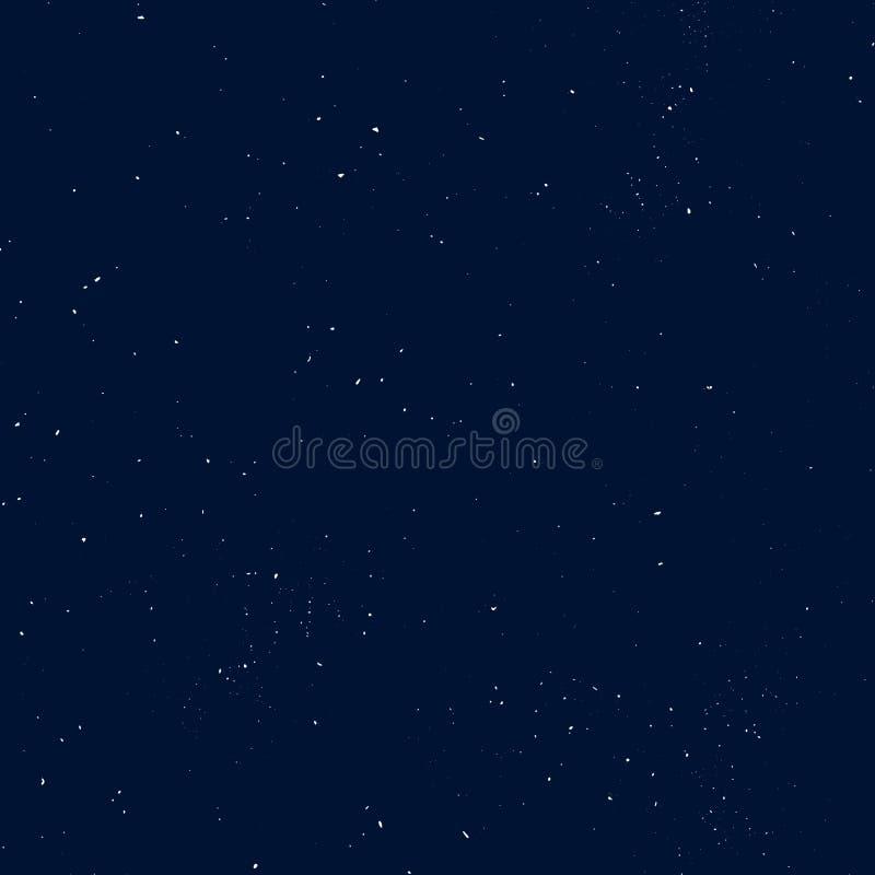 Het sterrige naadloze patroon, bespatte hand trekt heelal en melkweg herhaalbaar patroon Punten, nevelverf op donkere achtergrond vector illustratie