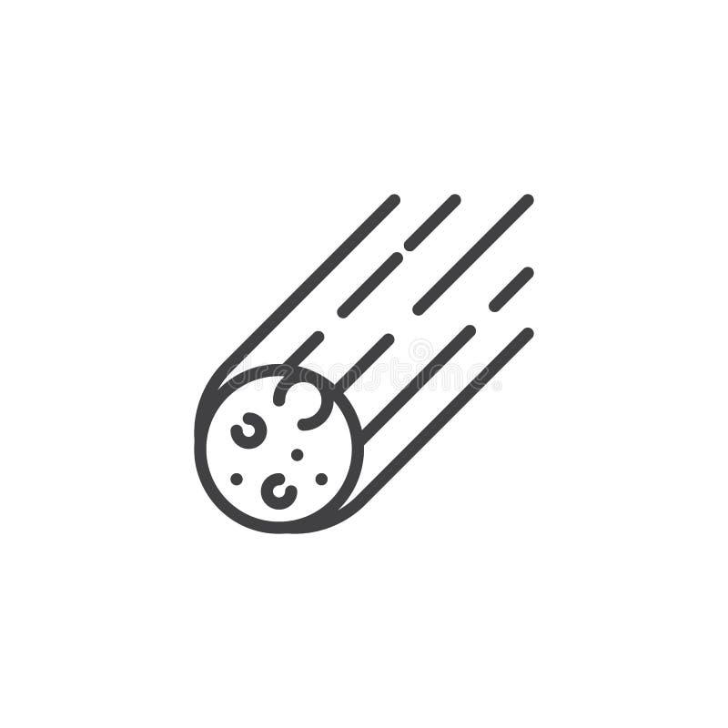 Het stervormige pictogram van het rots dalende overzicht stock illustratie