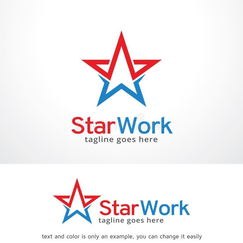 Het sterwerk Logo Template Design Vector, Embleem, Ontwerpconcept, Creatief Symbool, Pictogram vector illustratie