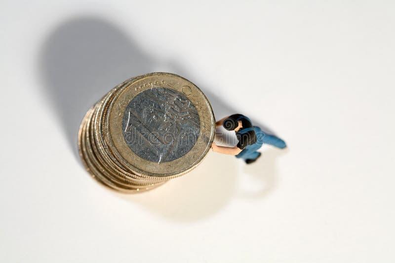 Het steunen van de Euro stock afbeelding