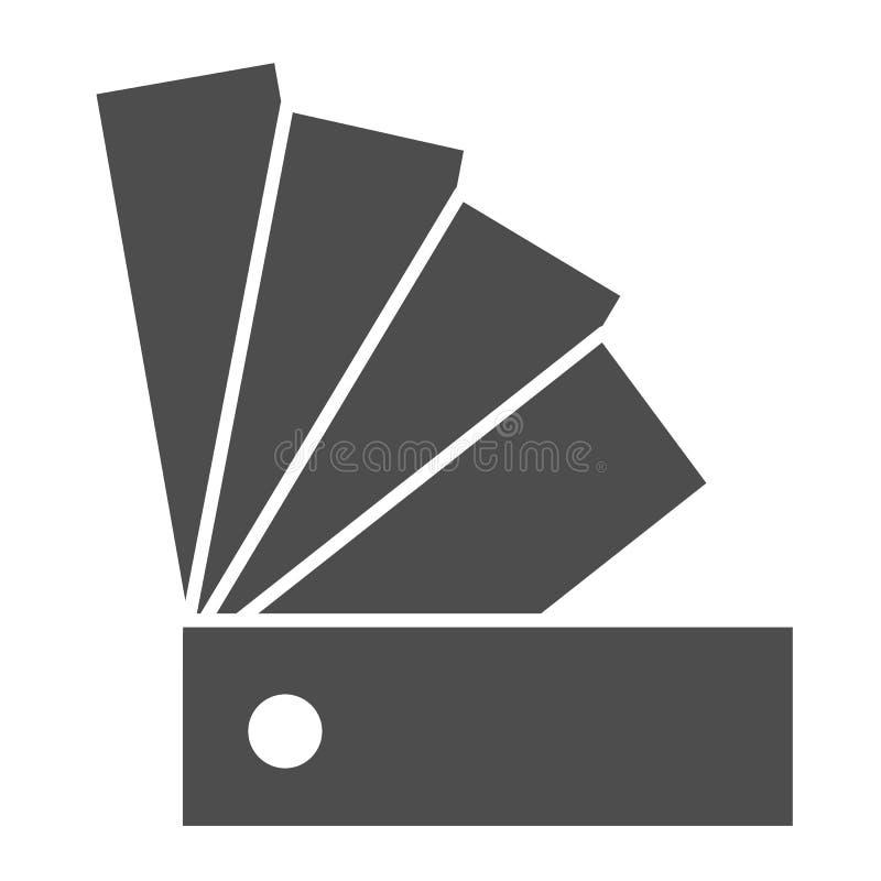 Het stevige pictogram van de kleurengids Palet vectorillustratie die op wit wordt ge?soleerd Het ontwerp van de monster glyph sti royalty-vrije illustratie