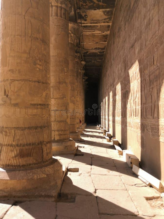 Het stijgen colums Egypte royalty-vrije stock fotografie